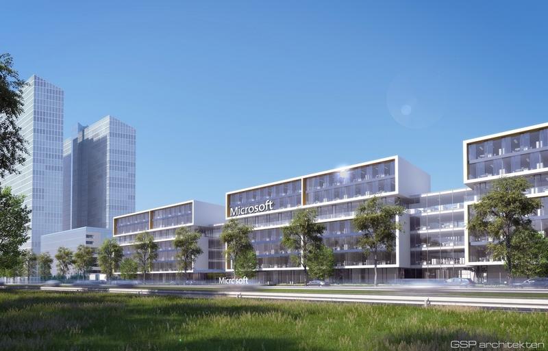 So soll die neue Deutschland-Zentrale von Microsoft in München aussehen. (Bild: Microsoft)