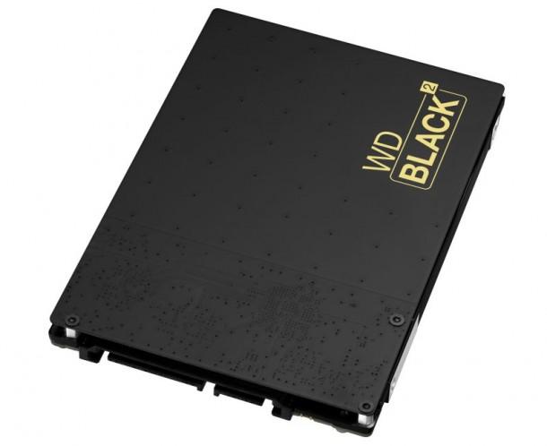 Die WD Black² ist vermutlich das erste echte Dual Drive am Markt: es liefert 120 GByte SSD- und 1 TByte HDD-Speicher. Quelle: WD
