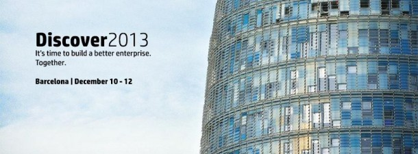 Die HP Discover 2013 im Schatten des Torre Agbar in Barcelona.