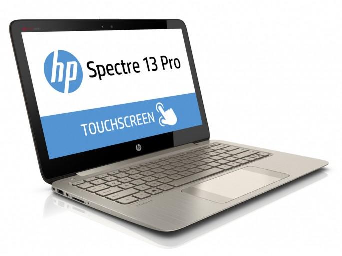 Das aufwändige HP-Ultrabook Spectre 13 Pro lässt sich über Touchscreen oder Sprachsteuerung bedienen. Quelle: HP