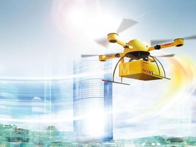 """DHL kooperiert derzeit mit einer Apotheke, um die Zustellung per """"DHL-Paketokopter"""" zu testen. Quelle: DHL"""