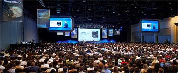 Die BlackBerry Live 2013 in Orlando. Quelle: BlackBerry
