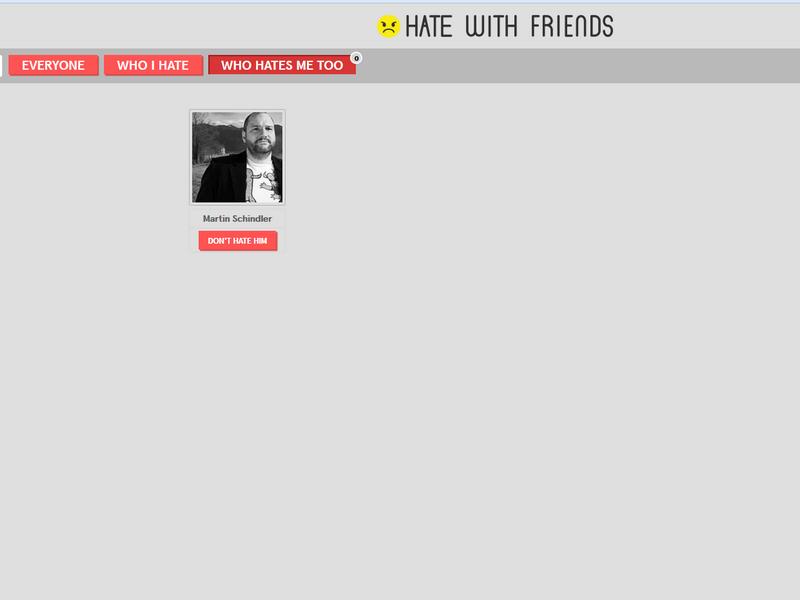 Hate With Friends (Bild: Screenshot silicon.de)