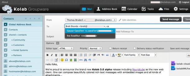 E-Mail unter Kolab.org. Quelle: Kolab.org