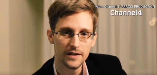 """Edward Snowdens kurze """"Weihnachtsansprache"""". Quelle: Channel4"""