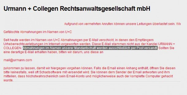Redtube Streaming Abmahnung Dient Als Phishing Scam Siliconde