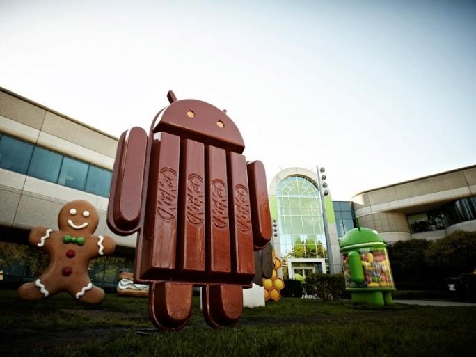 Hier die neue Version von Android. Android 4.4 heißt KitKat und Spötter geben an, dass Google jetzt sogar Versionsnamen eines Betriebssystems monetarisiert. Quelle: Google