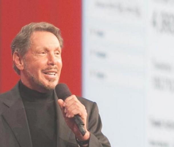 Larry Ellison gibt IBM und SAP als Erz-Konkurrenten den Laufpass. Quelle: Oracle