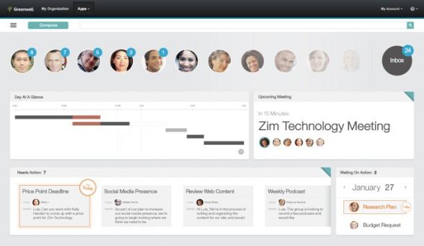 Hier ein Designentwurf der radikal anderen Oberfläche von IBM Mail Next. Dinge werden sich noch ändern, aber ein sehr guter erster Eindruck. Quelle: IBM