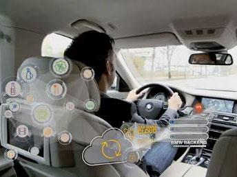 Zu Jahresanfang hatte SAP bereits mit dem Münchner Autohersteller BMW kooperiert, um für den Fahrer über mobile Services Informationen zusammen zufassen. Quelle: SAP/BMW