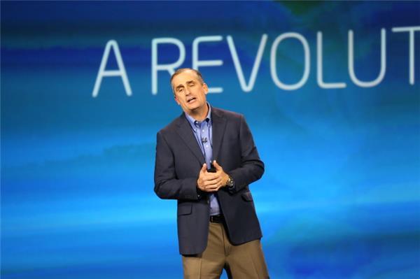 Intel-CEO Brian Krzanich bei seiner Rede auf der Consumer Electronics Show in Las Vegas (Bild: James Martin / News.com)