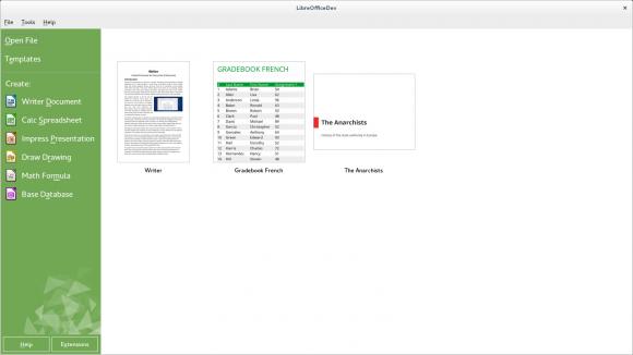 Libreoffice 4.2 bringt einen neuen Startbildschrim. Quelle: TDF