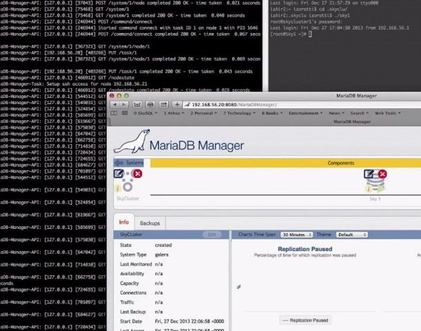 Der MariaDB Manager nimmt bei Konfiguration viel Arbeit ab. Quelle: MariaDB