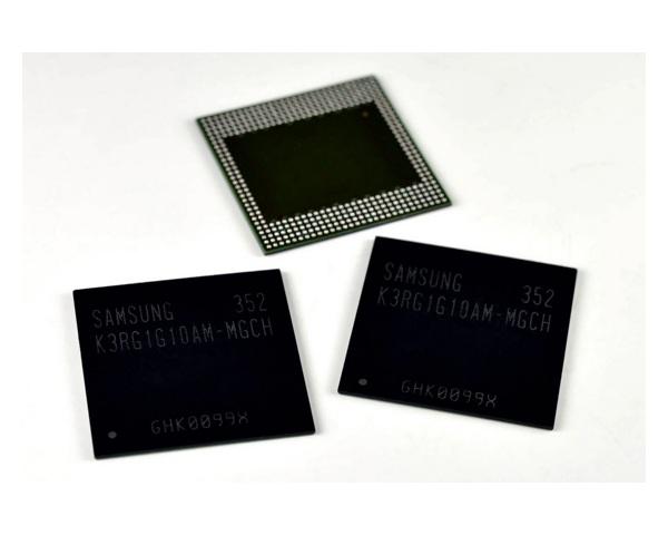 Samsung neuer mobiler DRAM-Chip ermöglich noch leistungsfähigere Mobilgeräte. Quelle: Samsung