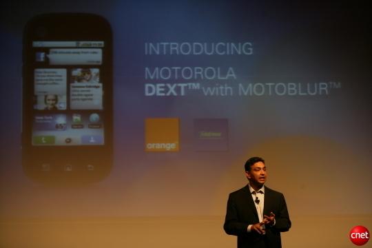 Sanjay Jha im Einsatz als Motorola-CEO 2009 (Bild: News.com).