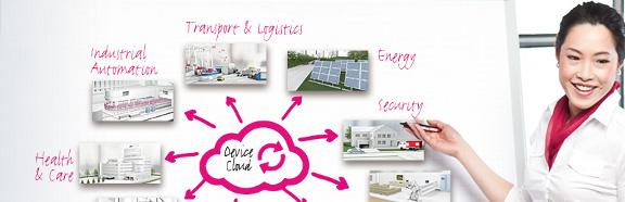 Der M2M Device Cloud der Deutschen Telekom bietet Cloud-basiertes Storage und Gerätemanagement für Machine-to-Machine-Kommunikation. Quelle: Telekom