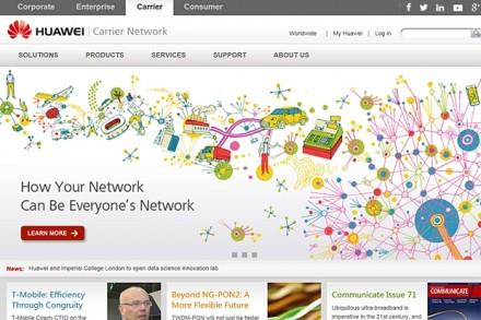 Huawei ist auch im Carrier-Geschäft tätig und bietet hier ein breites Portfolio für Netzwerk- und Datenübertragungstechnologien.