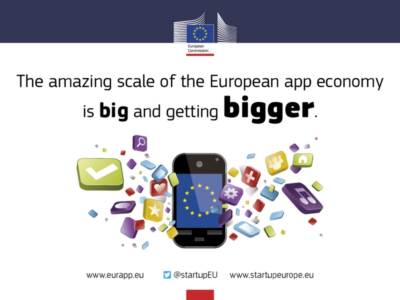 Der europäische Markt für Apps soll bis 2018 fast 3 Millionen neue Arbeitsplätze schaffen und 63 Milliarden Euro pro Jahr umsetzen. (Bild: Europäische Kommission)