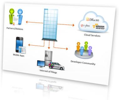 API-Management mit CAs Layer 7 Access Gateway. Quelle: CA