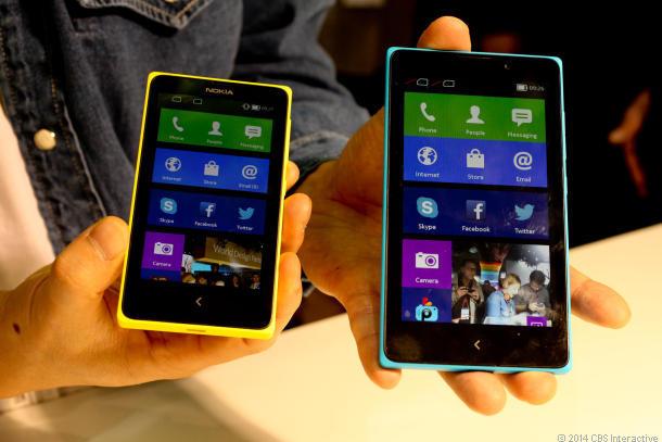 Nokias Android-Vorstoß: Nokia X und Nokia XL. Quelle: News.com