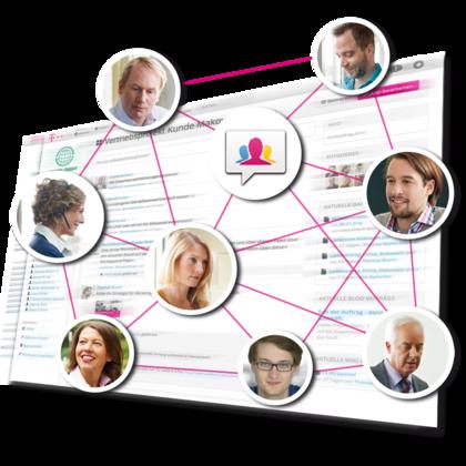 Business Marketplace: Die Telekom plant mit TeamLike auch ein eigenes soziales Netz für Unternehmen. Quelle: Deutsche Telekom