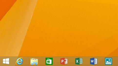 Windows 8.1 Update organisiert Apps jetzt in der Taskbar. Eine der vielen Neuerungen des Updates. Allerdings können diese Aktualisierung nicht alle Anwender aufspielen. Quelle: Microsoft