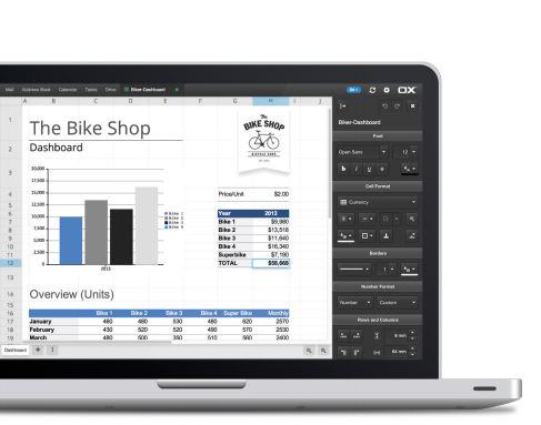 OX Spreadsheet ermöglicht das zusammenarbeiten an einem 'Excel'-Dokument auch über verschiedene Endgeräte hinweg. Quelle: Open-Xchange