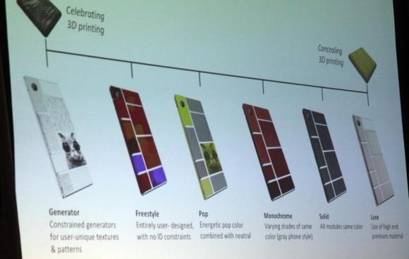 Gestaltungsvorschläge von Google zum Projekt Ara, einem modular aufgebautem Smartphone. Quelle: Seth Roseblatt/Cnet.com