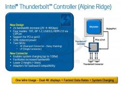 """Die nächste Thunderbolt-Generation """"Alpine Ridge"""" sieht eine Verdopplung der bidirektionalen Transferrate von 20 auf 40 GBit/s vor (Bild via VR-Zone)."""