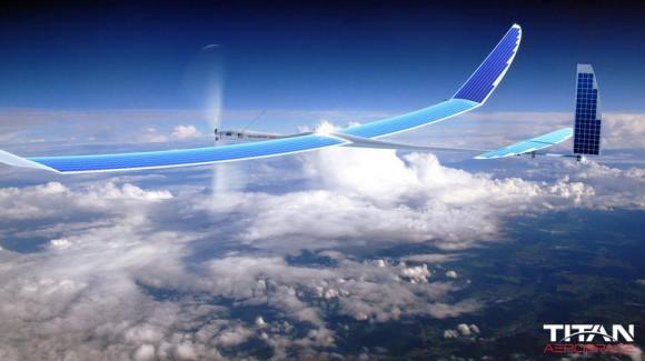 Solera 50 von Titan Aerospace hat eine Flügelspannweite von rund 50 Metern und kann bis zu fünf Jahre in der Luft bleiben. (Bild: Titan Aerospace).