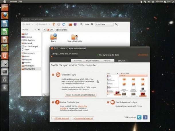 Aufgrund zu starker Konkurrenz stellt Canonical den Cloud-Speicherdienst Ubuntu One ein (Screenshot: Steven J. Vaughan-Nichols/ZDNet.com).