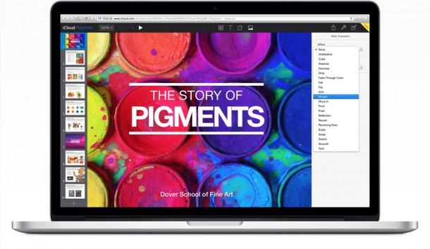 Das neue Keynote for iCloud. Quelle: Apple