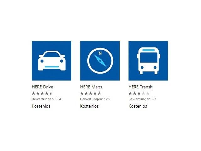 Windows-Phone-Apps von Nokia Here