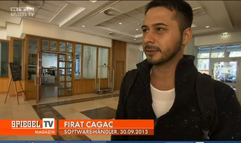 Firat Cagac hatte Vermutungen, er sei der eigentliche Hintermann von PCFritz, im Herbst vergangenen Jahres gegenüber Spiegel-TV zurückgewiesen (Screenshot: ITespresso bei RTL Now.)