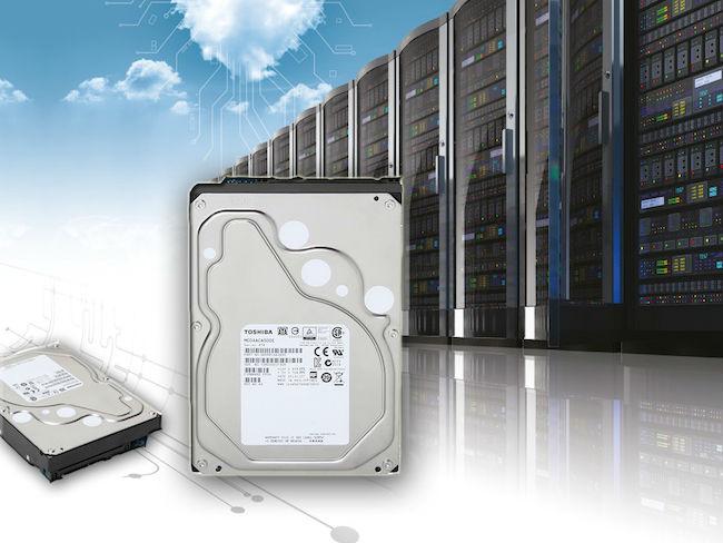 Die Enterprise-HDDs der Reihe MC04ACAxxx sind für Cloud-Umgebungen konzipiert (Bild: Toshiba).