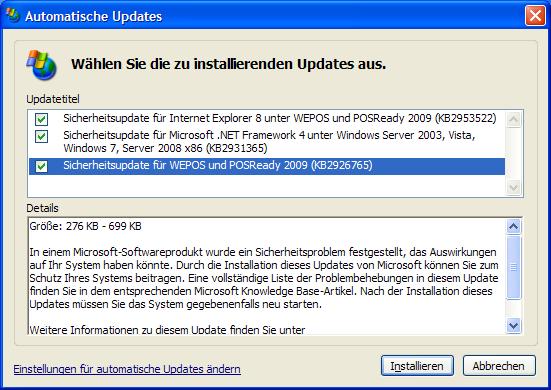 Windows XP: Ein Registry-Trick hebt den Update-Stopp von Microsoft auf. Quelle: ZDNet.de