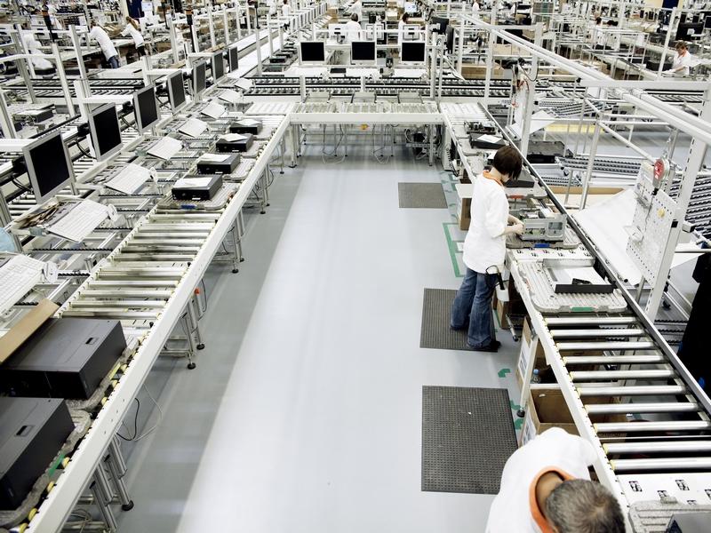 Fujitsu setzt bei der Montage auf die U-Linie. (Bild: Fujitsu)