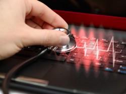 Fieberkurve Notebook (Bild: Shutterstock / Natalia-Siverina)
