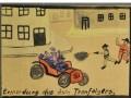 Ermordung des österreichischen Thronfolgers Franz Ferdinand Zeichnung des Schülers Franz Przybyla Quelle: europeana 1914-1918 Beiträger: Heinrich Przybyla Urheberrecht: CC-BY-SA