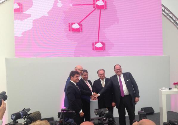 Feierliche Eröffnung von Biere. Quelle: Deutsche Telekom/via Twitter