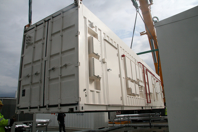 Ein HP-Pod wird in einem Standard-Container angeliefert. Quelle: HP: Deutschland