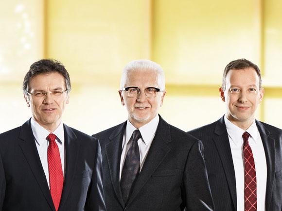 Die Materna-Gründer Helmut an de Meulen wollen künftig aus einem Beitrat heraus den Dienstleister strategisch beraten und ziehen sich 2015 aus der Geschäftsführung zurück. Ralph Hartwig (rechts) bleibt Finanzgeschäftsführer. Quelle: Materna