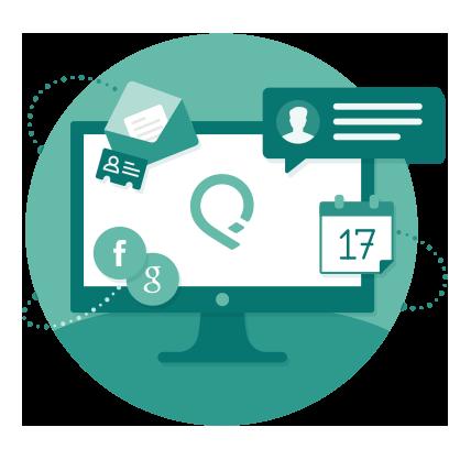 Die Relationship Intelligence Platform von RelateIQ führt Sales-Daten aus E-Mails, Kalendern und Sozialen Netzen in einem zentralen Dashboard zusammen. Quelle: RelateIQ