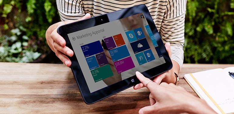 Ein neues Tool soll vor allem für Unternehmensanwender das Arbeiten mit Apps und Informationen in Windows 8 erleichtern. Quelle: Microsoft