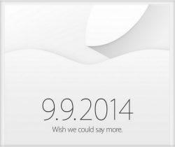 "Apple lädt nach Cupertion ein. Das Motto der Veranstaltung: ""Wish we could say more""."