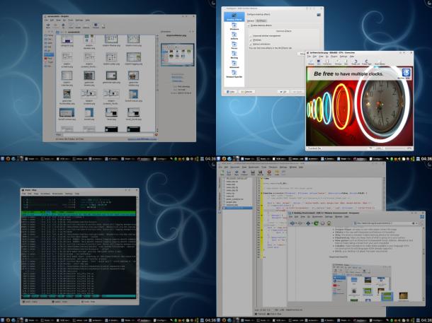 Virtuelle Desktops unter KDE. Quelle: KDE