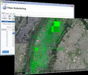 Tile-Debriefing mit InfiniteInsights 7.0 in Google Earth. Quelle: SAP