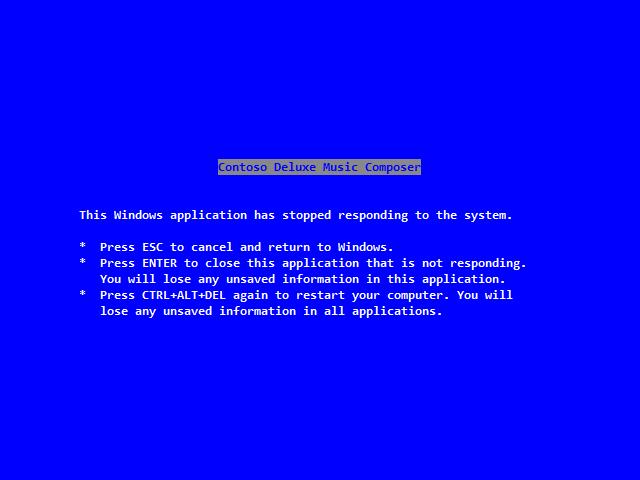 Der Blue Screen of Death trägt die Handschrift von Steve Ballmer. (Bild: Microsoft)