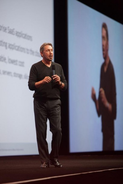 """Oracle-CTO Larry Ellison auf der OpenWorld in San Franciso: """"Nichts ist wichtiger, als seine Daten zu sichern."""" Quelle: Oracle"""