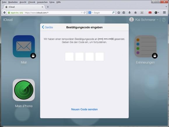 Apple aktiviert nach einem Hackerübergriff auf die Accounts von Prominenten eine zweistufige Authentifizierung. Screenshot: ZDNet.de